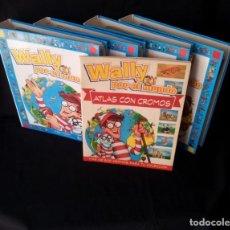 Libros de segunda mano: WALLY POR EL MUNDO - 4 CARPETAS (52 FASCÍCULOS) COLECCIÓN COMPLETA + ATLAS CON CROMOS COMPLETO. Lote 130819532