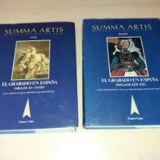 Libros de segunda mano: EL GRABADO EN ESPAÑA - (SIGLOS XV-XVIII - XIX-XX) - SUMMA ARTIS - HISTORIA GENERAL DEL ARTE. Lote 130980048