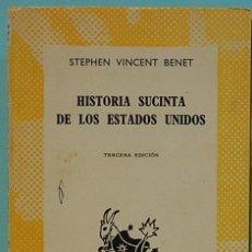 Libros de segunda mano: HISTORIA SUCINTA DE LOS ESTADOS UNIDOS.COL.AUSTRAL Nº1250.ESPASA-CALPE. Lote 131075136