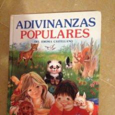 Libros de segunda mano: ADIVINANZAS POPULARES DEL IDIOMA CASTELLANO (SUSAETA EDICIONES). Lote 131162792