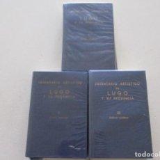 Libros de segunda mano: VV. AA. INVENTARIO ARTÍSTICO DE LUGO Y SU PROVINCIA. TOMOS I, II Y III. RM87638. Lote 131295079