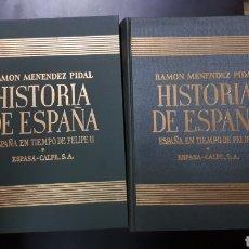 Libros de segunda mano: HISTORIA DE ESPAÑA. RAMÓN MENÉNDEZ PIDAL. TOMO XIX (VOLUMEN I Y II). Lote 131439535