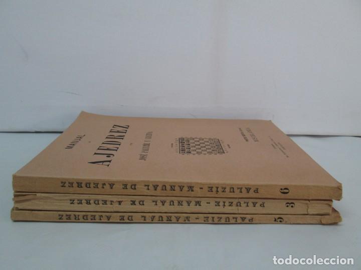 Libros de segunda mano: MANUAL DE AJEDREZ. JOSE PALUZIE Y LUCENA. PARTE TERCERA, QUINTA, SEXTA. 1939-1943. VER FOTOS - Foto 2 - 131478270