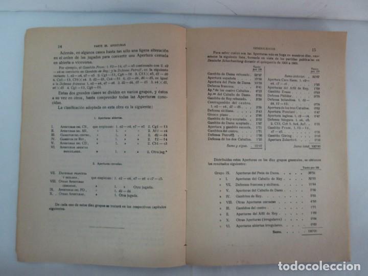 Libros de segunda mano: MANUAL DE AJEDREZ. JOSE PALUZIE Y LUCENA. PARTE TERCERA, QUINTA, SEXTA. 1939-1943. VER FOTOS - Foto 9 - 131478270