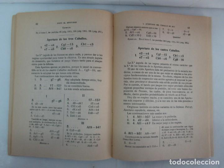Libros de segunda mano: MANUAL DE AJEDREZ. JOSE PALUZIE Y LUCENA. PARTE TERCERA, QUINTA, SEXTA. 1939-1943. VER FOTOS - Foto 10 - 131478270