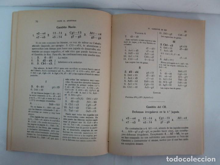 Libros de segunda mano: MANUAL DE AJEDREZ. JOSE PALUZIE Y LUCENA. PARTE TERCERA, QUINTA, SEXTA. 1939-1943. VER FOTOS - Foto 12 - 131478270