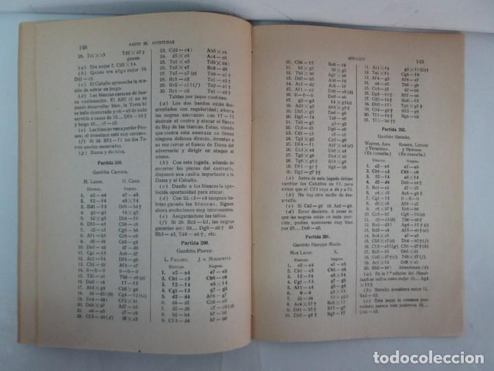 Libros de segunda mano: MANUAL DE AJEDREZ. JOSE PALUZIE Y LUCENA. PARTE TERCERA, QUINTA, SEXTA. 1939-1943. VER FOTOS - Foto 18 - 131478270