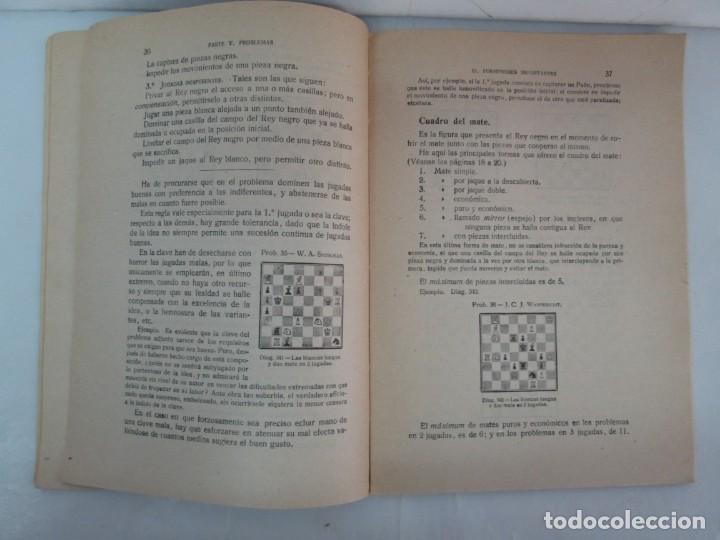 Libros de segunda mano: MANUAL DE AJEDREZ. JOSE PALUZIE Y LUCENA. PARTE TERCERA, QUINTA, SEXTA. 1939-1943. VER FOTOS - Foto 29 - 131478270