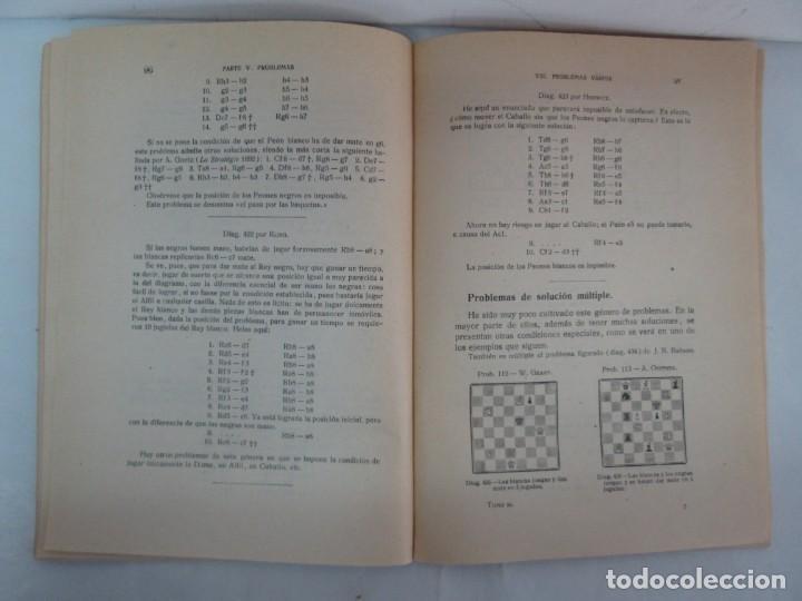 Libros de segunda mano: MANUAL DE AJEDREZ. JOSE PALUZIE Y LUCENA. PARTE TERCERA, QUINTA, SEXTA. 1939-1943. VER FOTOS - Foto 33 - 131478270