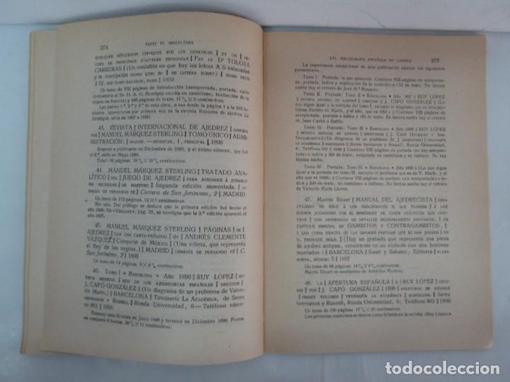 Libros de segunda mano: MANUAL DE AJEDREZ. JOSE PALUZIE Y LUCENA. PARTE TERCERA, QUINTA, SEXTA. 1939-1943. VER FOTOS - Foto 45 - 131478270