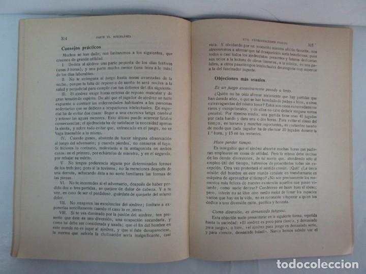 Libros de segunda mano: MANUAL DE AJEDREZ. JOSE PALUZIE Y LUCENA. PARTE TERCERA, QUINTA, SEXTA. 1939-1943. VER FOTOS - Foto 48 - 131478270