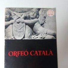Libros de segunda mano: ORFEO CATALÀ CONCERT MANLLEU ( 30 MAIG 1971 ). Lote 131795386