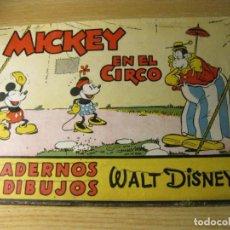 Libros de segunda mano: CUADERNO PARA PINTAR ED MOLINO . Nº 8 MICKEY EN EL CIRCO. Lote 132010010