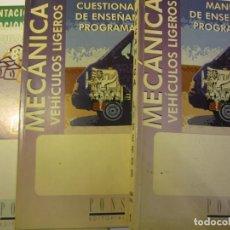 Libros de segunda mano: LOTE 3 LIBROS MECANICA DE VEHICULOS LIGEROS BTP EDITORIAL PONS AÑO 1997. Lote 293509433