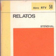 Libros de segunda mano: RELATOS - STENDHAL - BIBLIOTECA BASICA Nº 58 SALVAT 1970 LIBRO RTV. Lote 132118554