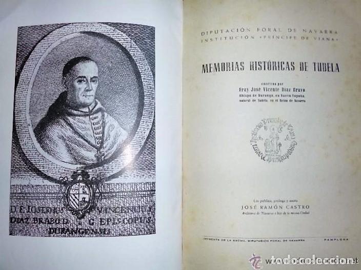 Libros de segunda mano: MEMORIAS HISTÓRICAS DE TUDELA. - Foto 2 - 132204906