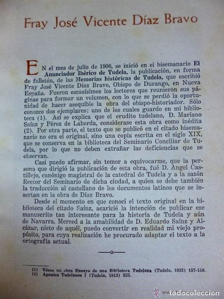 Libros de segunda mano: MEMORIAS HISTÓRICAS DE TUDELA. - Foto 3 - 132204906
