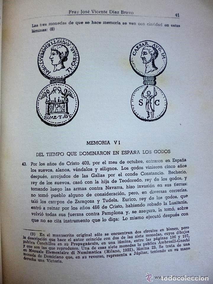 Libros de segunda mano: MEMORIAS HISTÓRICAS DE TUDELA. - Foto 4 - 132204906
