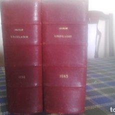 Libros de segunda mano: 2 TOMOS DE ARANZADI LEGISLACION 1934 1945. Lote 132213754
