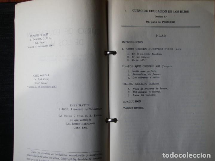 Libros de segunda mano: LIBRO EDUCACION DE LOS HIJOS 1963 - Foto 4 - 132317082