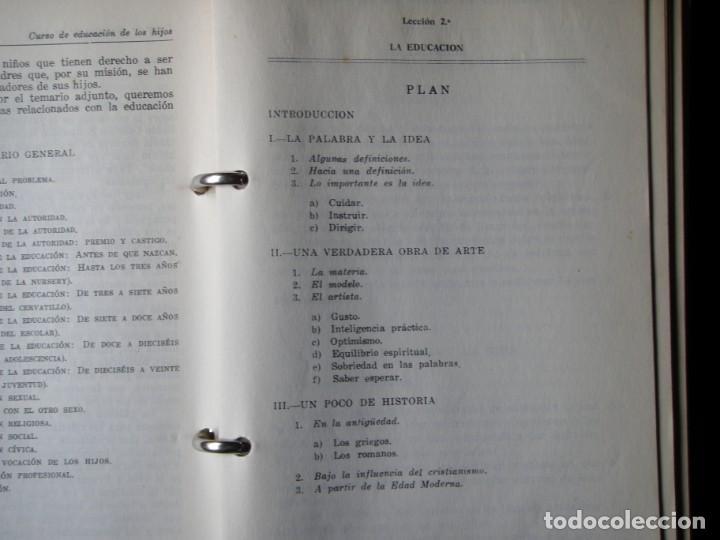 Libros de segunda mano: LIBRO EDUCACION DE LOS HIJOS 1963 - Foto 6 - 132317082