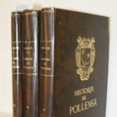 Livres d'occasion: HISTORIA DE POLLENSA. - ROTGER Y CAPLLONCH, MATEO. - PALMA DE MALLORCA, 1967-69.. Lote 123240656