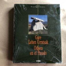 Libros de segunda mano: GURE LEHEN URRATSAK - ODISEA EN EL PASADO. HOMENAJE A D. JOSÉ MIGUEL DE BARANDIARAN. EDITORIAL ETOR.. Lote 132484718