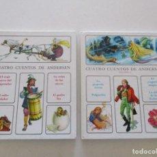 Libros de segunda mano: ANDERSEN CUATRO CUENTOS DE ANDERSEN. TOMOS I Y II. DOS TOMOS. RMT87750. Lote 132488086