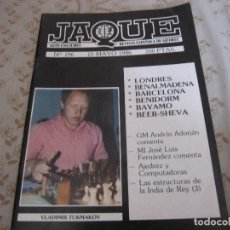 Libros de segunda mano: JAQUE, REVISTA ESPAÑOLA DE AJEDREZ 196. 15 DE MAYO DE 1986. Lote 132563086