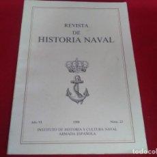 Libros de segunda mano: LIBRO DE REVISTA HISTORIA NAVAL NÚMERO 23 DE 1988. Lote 132586978