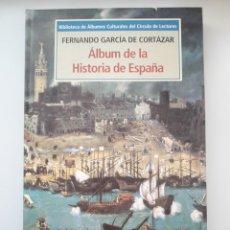Libros de segunda mano: ALBUM DE LA HISTORIA DE ESPAÑA 2 LIBRO CON 56 CROMOS IMÁGENES BIBLIOTECA 1995. Lote 132787562