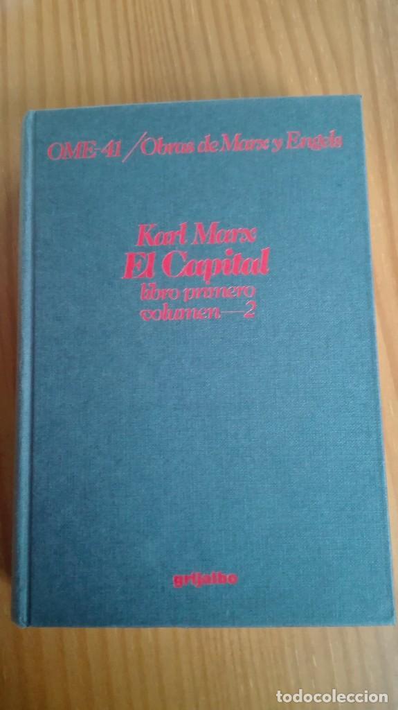 El Capital Libro Primero Volumen 2 Karl Marx Cr Sold