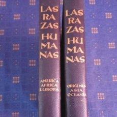 Libros de segunda mano: LAS RAZAS HUMANAS (DOS GRANDES VOLUMENES) - INSTITUTO GALLACH.1962.. Lote 132834542
