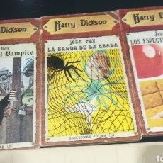 Libros de segunda mano: HARRY DICKSON. LOS TRES PRIMEROS NÚMEROS, 1,2 Y 3 DE EDITORIAL JUCAR. JEAN RAY. Lote 132947015
