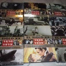 Libros de segunda mano: EL SIGLO XX 6 LIBROS UNO CADA DÉCADA VER FOTOS. Lote 132980242