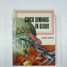 Libros de segunda mano: CINCO SEMANAS EN GLOBO. JULIO VERNE. COLECCION HISTORIAS INFANTIL Nº 12 BRUGUERA. TDK59. Lote 133039022