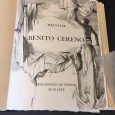 Libros de segunda mano: HERMAN MELVILLE. BENITO CERENO. AGUAFUERTES DE ERIK DESMAZIERES. LIBRO DE ARTISTA. Lote 133230191