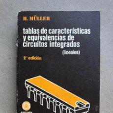 Libros de segunda mano: TABLAS DE CARACTERÍSTICAS Y EQUIVALENCIAS DE CIRCUITOS INTEGRADOS (LINEALES). H. MÜLLER. BOIXAREU ED. Lote 133330987