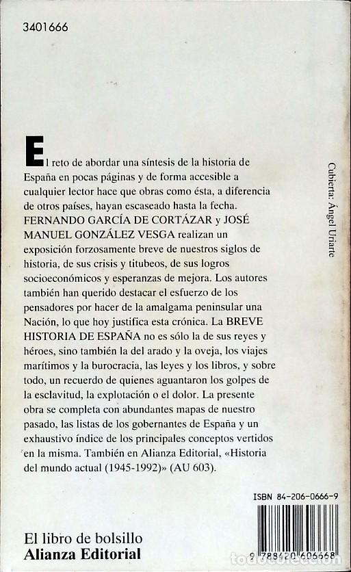 Libros de segunda mano: Breve historia de España - Fernando García de Cortázar - Foto 2 - 133525114
