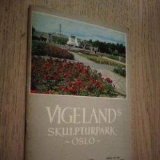 Libros de segunda mano: VIGELANDS SKULPTURPARK I OSLO. Lote 133682358