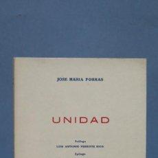 Libros de segunda mano: UNIDAD. JOSE MARIA PORRAS. Lote 133693618