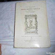 Libros de segunda mano: CATALOGO DE UMA PRECIOSA BIBLIOTECA PARTICULAR.ELABORADO POR MANUEL FERREIRA.LISBOA 1976. Lote 133749986