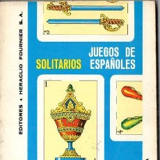 Libros de segunda mano: JUEGOS DE SOLITARIOS ESPAÑOLES HERACLIO FOURNIER 1978. Lote 133759138