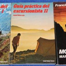 Libros de segunda mano: GUÍA PRATICA DE EXCURSIONISTA I Y II - MONTAÑISMO - MARTINEZ ROCA (1985). Lote 133763646