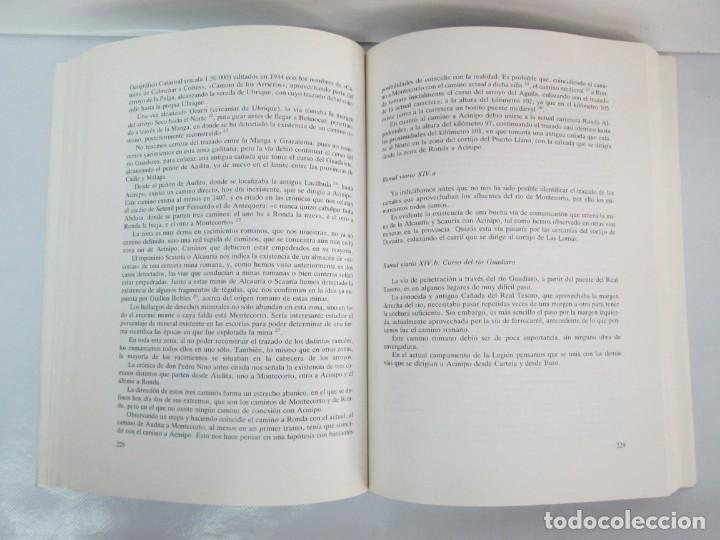 Libros de segunda mano: LAS VIAS ROMANAS DE MALAGA. CARLOS GOZALBES CRAVIOTO. COLEGIO DE INGENIEROS DE CAMINOS - Foto 14 - 133829562