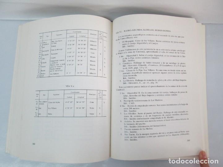 Libros de segunda mano: LAS VIAS ROMANAS DE MALAGA. CARLOS GOZALBES CRAVIOTO. COLEGIO DE INGENIEROS DE CAMINOS - Foto 19 - 133829562