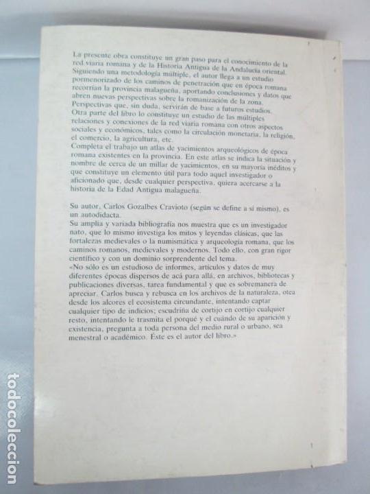 Libros de segunda mano: LAS VIAS ROMANAS DE MALAGA. CARLOS GOZALBES CRAVIOTO. COLEGIO DE INGENIEROS DE CAMINOS - Foto 29 - 133829562