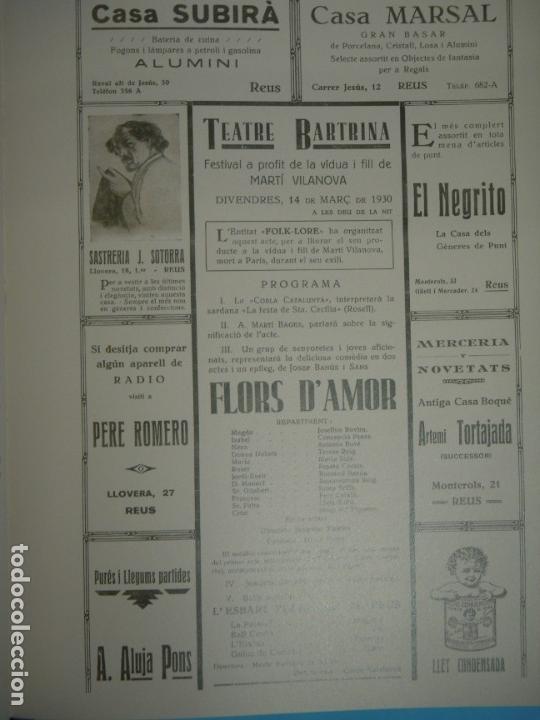 Libros de segunda mano: 100 ANYS DE TEATRE BARTRINA, REUS, 1905-2005 (2 VOLUMS) - ALBERT ARNAVAT I ALTRES 2005, 1ª ED (NOUS) - Foto 7 - 133965478