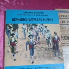 Libros de segunda mano: BERNARDO CASIELLES TORERO ASTURIANO LIBRO Y RECORTES DE PRENSA. Lote 133979606