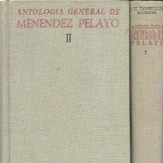 Libros de segunda mano: SÁNCHEZ DE MUNIAIN: ANTOLOGÍA GENERAL DE MENÉNDEZ PELAYO (RECOPILACIÓN ORGÁNICA DE SU DOCTRINA). Lote 134042382